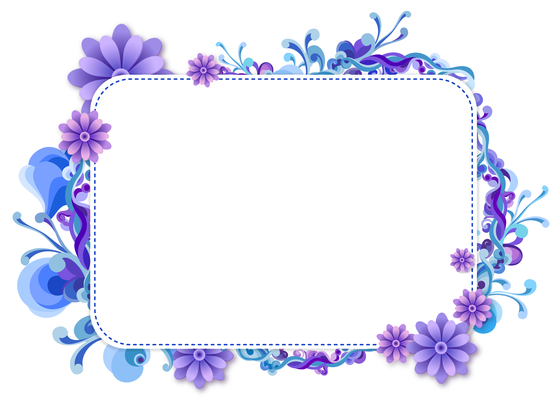 Blue and Purple Vector Frame